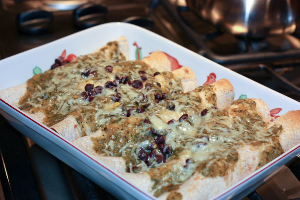 Sweet Potato, Leek & Black Bean Enchiladas | Food Confidence