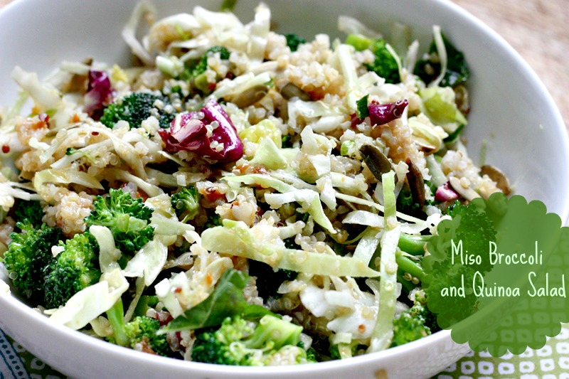 miso broccoli quinoa salad