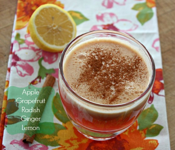 Radish apple grapefruit Juice -- perfect for detox or anytime!