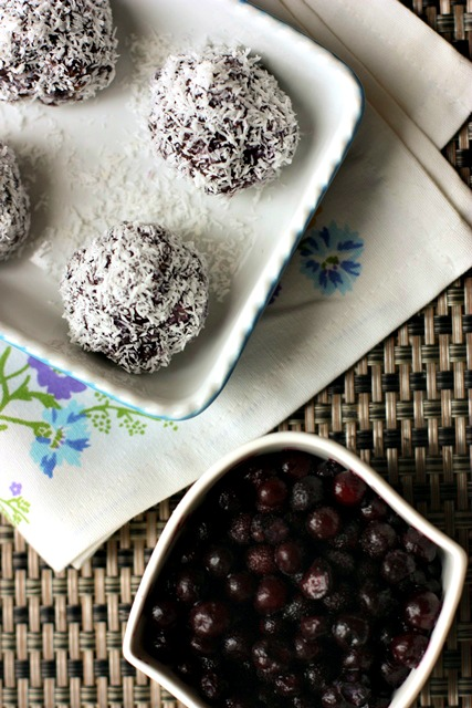 Raw Wild Blueberry Balls