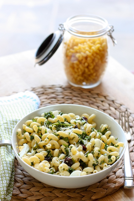 kale pasta with egg
