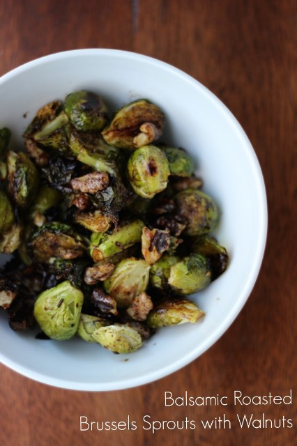 Balsamic Walnut Brussels Sprouts