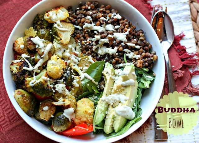 roasted buddha bowl roasted buddha bowl buddha bowl filled with below ...
