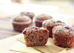 chocolate cherry hemp seed muffins