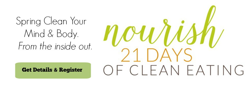 Nourish: 21 Days of Clean Eating spring program starts April 13th