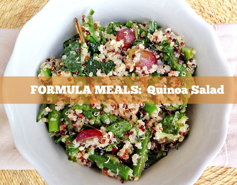 Formula Meals: Quinoa Salad..learn the formula to make simple, healthy quinoa salads! Perfect for lunch or easy weeknight dinner!