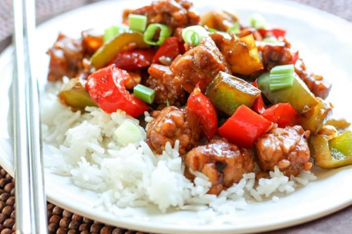 Kung Pao Tempeh #vegan #dinner
