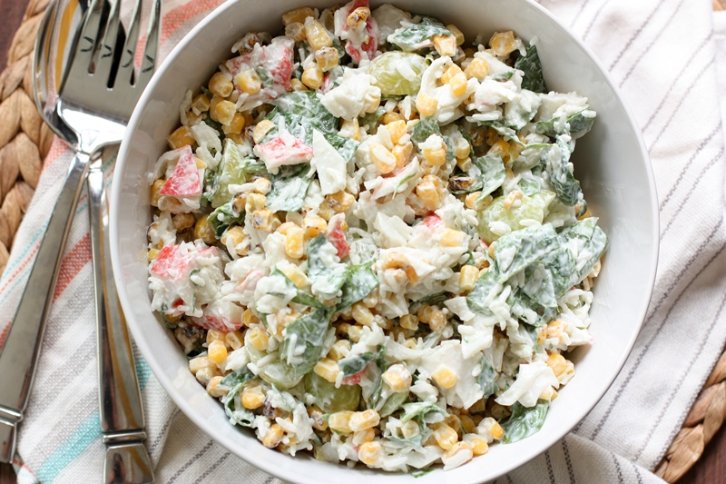 summer rice salad via @danielleomar