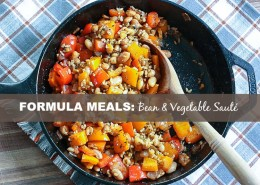 Whip up a tasty, vegetarian meal that everyone will love! In minutes you can have a simple lunch or a quick weeknight meal - no recipe required! Bean vegetable saute. Get the Formula recipe! @danielleomar