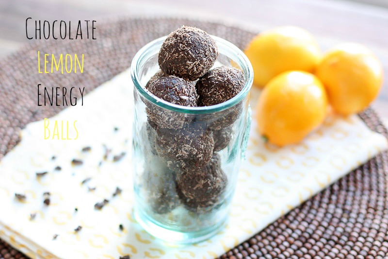 No-Bake chocolate lemon energy balls