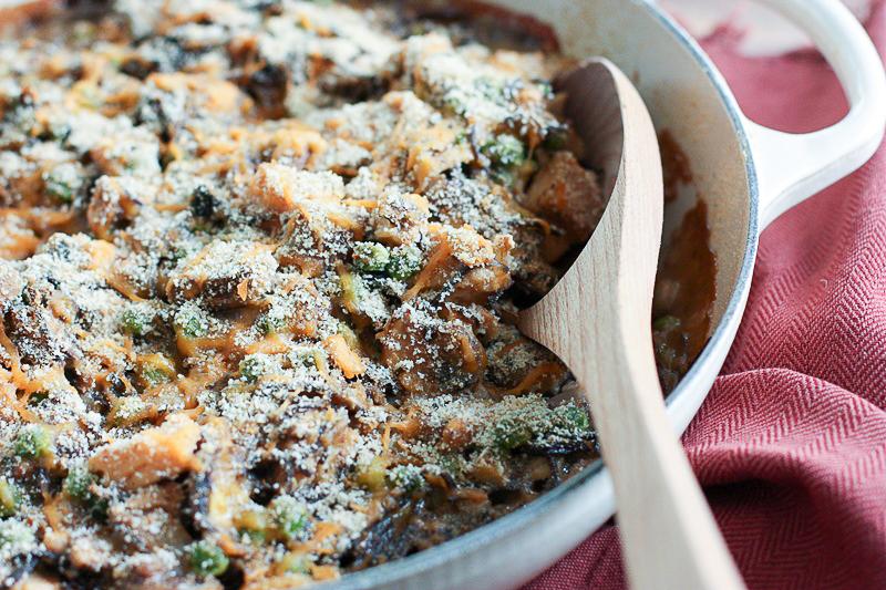 healthy tuna casserole with gluten free black bean pasta