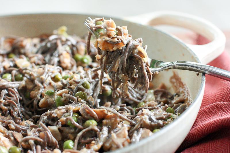 healthy tuna casserole with gluten free bean pasta