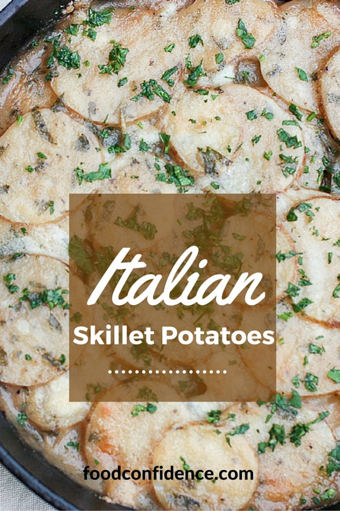 Italian Skillet Potatoes are a healthy alternative to scalloped potatoes, but just as delicious!