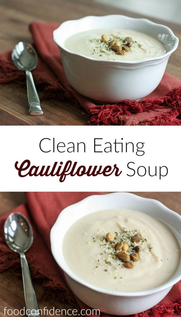 Clean eating cauliflower soup is a delicious, detoxifying weeknight dinner!