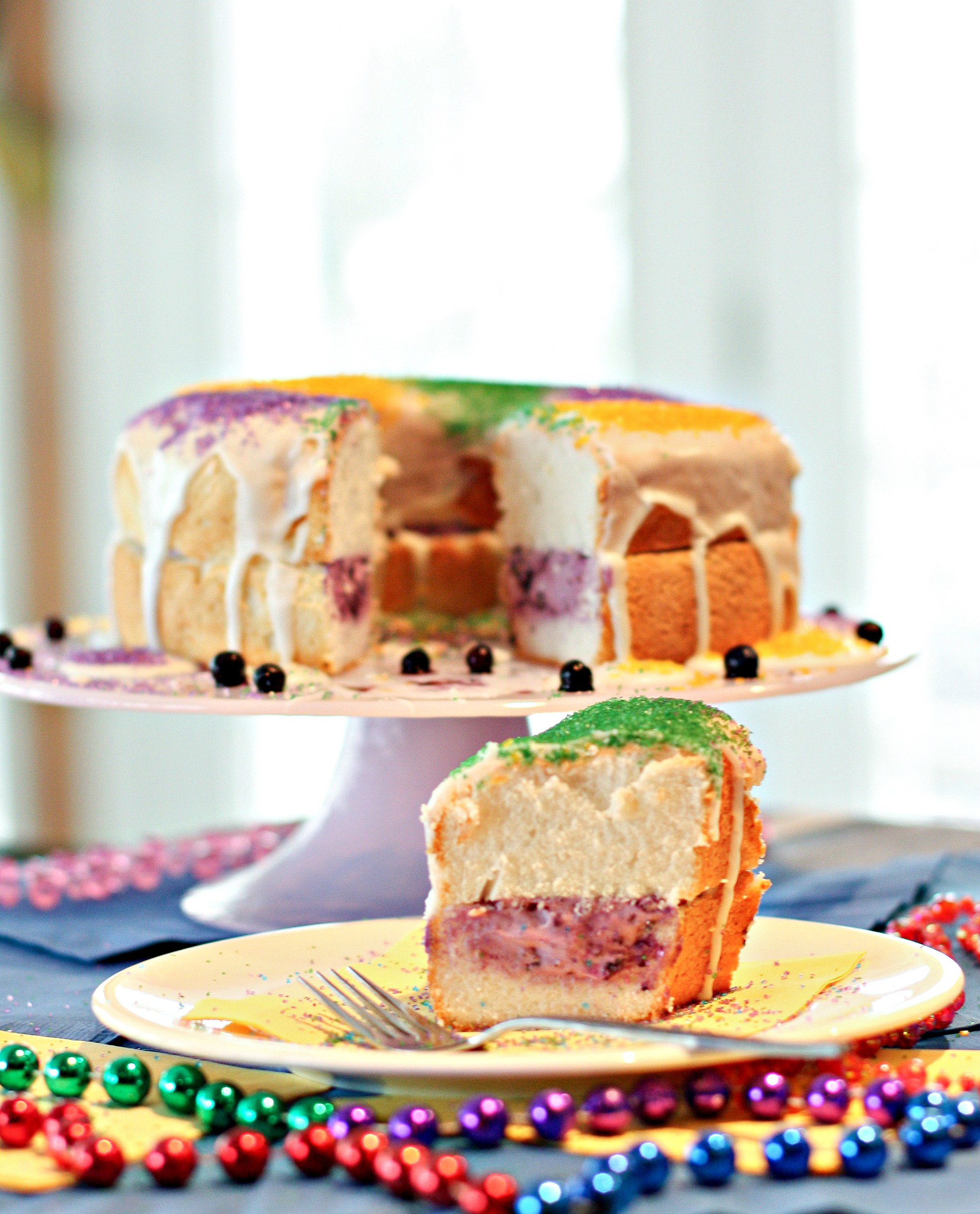 Wild Blueberry King Cake