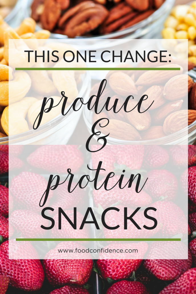 A healthy lifestyle is the result of making sustainable changes over time.  My best strategy for sustainable change is to work on creating one new habit at a time. Learn how produce and protein snacks can help you create a healthier day!